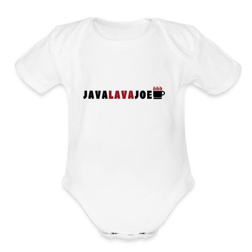 JavaLavaJoeLogo - Organic Short Sleeve Baby Bodysuit