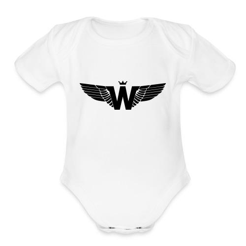 Wade Clothing Logo - Organic Short Sleeve Baby Bodysuit