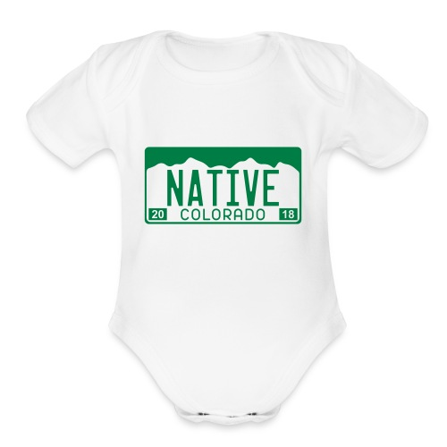 Colorado Native 2018 - Organic Short Sleeve Baby Bodysuit