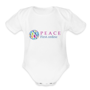 LogoPeaceFirst - Short Sleeve Baby Bodysuit