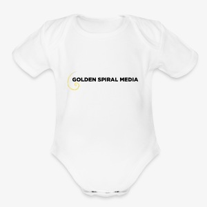 Golden Spiral Media Black Logo - Short Sleeve Baby Bodysuit