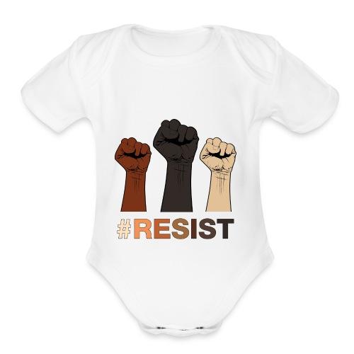 Resist / Racial Justice - Organic Short Sleeve Baby Bodysuit