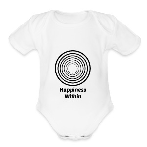 Happiness Within - Short Sleeve Baby Bodysuit