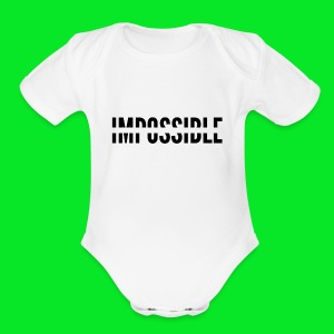 Impossible - Short Sleeve Baby Bodysuit