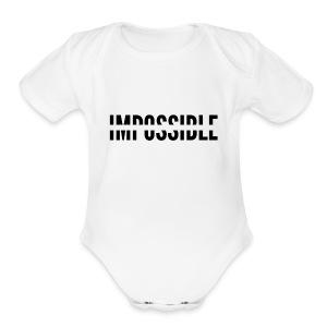 Impossible - Short Sleeve Baby Bodysuit