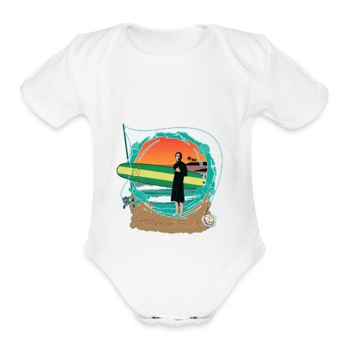 #foreverYoung Black Tee - Organic Short Sleeve Baby Bodysuit
