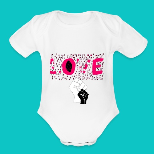 tshirt_1_love_wo_black_2_4 - Organic Short Sleeve Baby Bodysuit