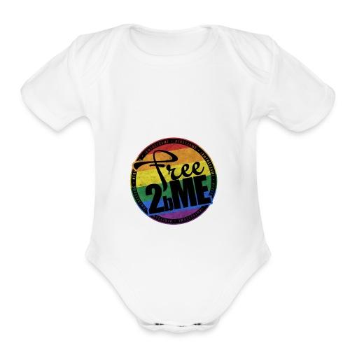 Free2bMe6 - Organic Short Sleeve Baby Bodysuit