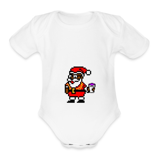 trap_santa - Organic Short Sleeve Baby Bodysuit