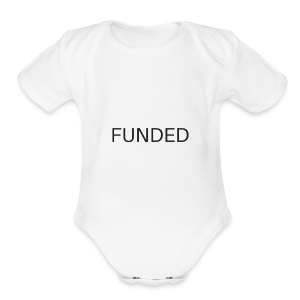 FUNDED Black Lettered T - Short Sleeve Baby Bodysuit