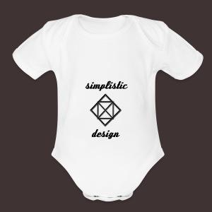 Simplistic Design Logo With Text - Short Sleeve Baby Bodysuit