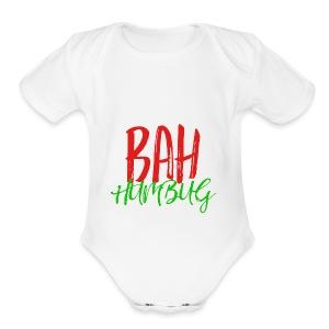 Bah Humbug Handwritten - Short Sleeve Baby Bodysuit
