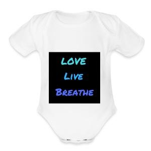 The Day Shift Academy Blue LLB Design - Short Sleeve Baby Bodysuit