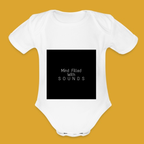 Mind Filled with Sounds - Organic Short Sleeve Baby Bodysuit