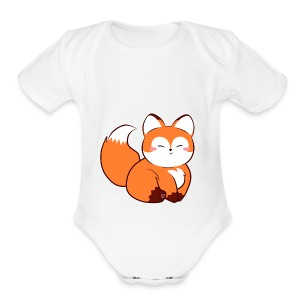 fat baby fox - Short Sleeve Baby Bodysuit
