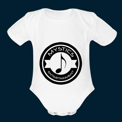 mystics_ent_black_logo - Organic Short Sleeve Baby Bodysuit