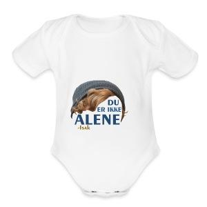Du er ikke alene (Skam) - Short Sleeve Baby Bodysuit