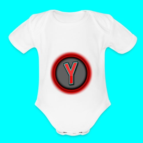 CoolYeti LOGO - Organic Short Sleeve Baby Bodysuit
