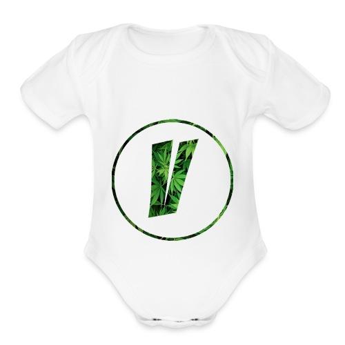 VENOAK LOGO - Organic Short Sleeve Baby Bodysuit