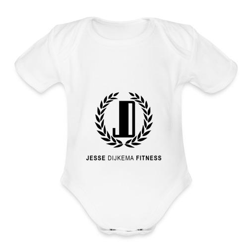 JD Logo - Organic Short Sleeve Baby Bodysuit