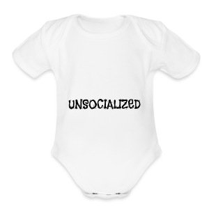 Unsocialized - Short Sleeve Baby Bodysuit