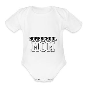 homeschoolmom - Short Sleeve Baby Bodysuit