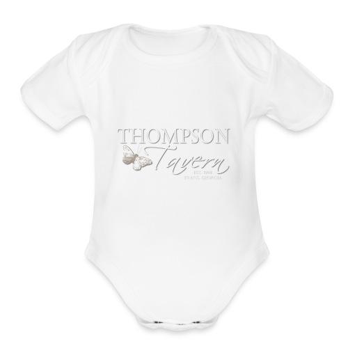 Tavern logo - Organic Short Sleeve Baby Bodysuit