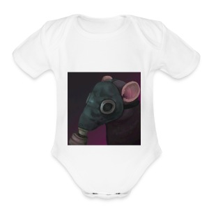 the ratflippus - Short Sleeve Baby Bodysuit