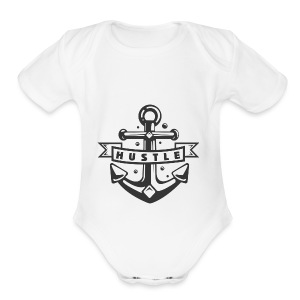 Hustle - Short Sleeve Baby Bodysuit