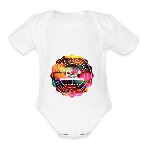 Underground_Film_Initiative_Logo_Colour_Pop_Bokeh - Short Sleeve Baby Bodysuit
