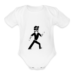The Famous Mr Warrior - Short Sleeve Baby Bodysuit