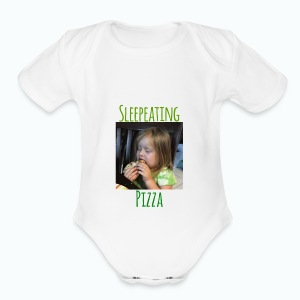 Sleepeating Pizza - Short Sleeve Baby Bodysuit