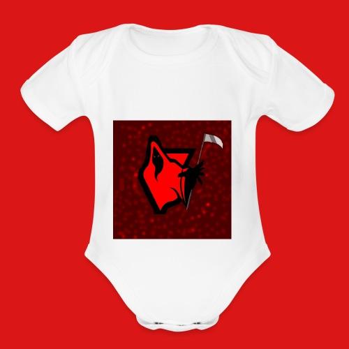 PhantomGames Logo - Organic Short Sleeve Baby Bodysuit