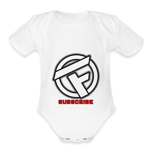 Subscribe Logo - Organic Short Sleeve Baby Bodysuit