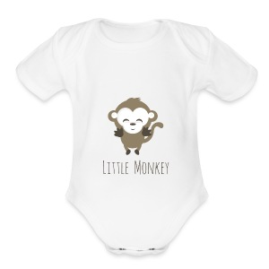 Little Monkey - Short Sleeve Baby Bodysuit