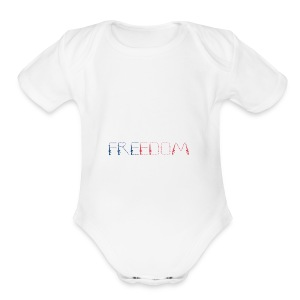 Freedom - Short Sleeve Baby Bodysuit