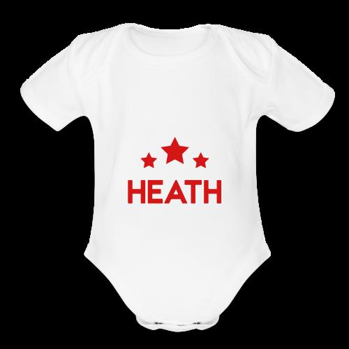 Red and White Logo - Organic Short Sleeve Baby Bodysuit