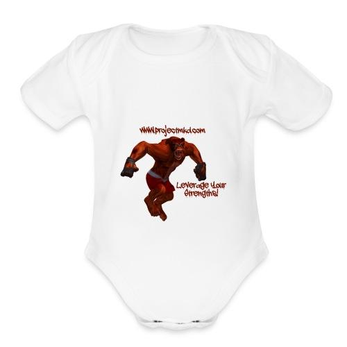 Munkee Kissin Dunkee's - Munkee - Organic Short Sleeve Baby Bodysuit