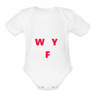 WAY OFF logo - Short Sleeve Baby Bodysuit