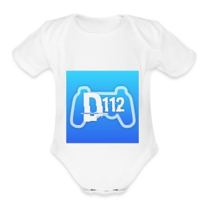 D112gaming logo - Short Sleeve Baby Bodysuit