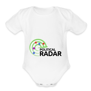 Political Radar Logo - Black - Short Sleeve Baby Bodysuit