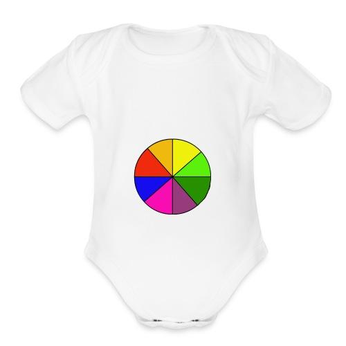 Mr Rainbow Shirts - Organic Short Sleeve Baby Bodysuit