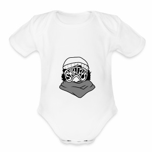 Shirleys Ski Goggles - Short Sleeve Baby Bodysuit