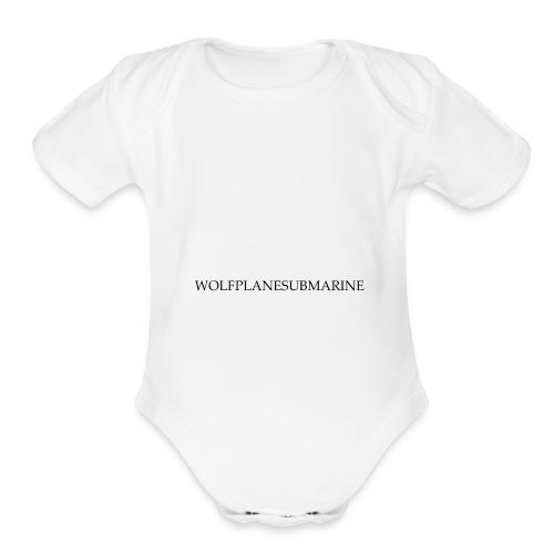 WOLFPLANESUBMARINE - Organic Short Sleeve Baby Bodysuit