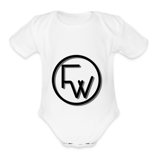 A Funny Wilson Production Black Logo - Organic Short Sleeve Baby Bodysuit