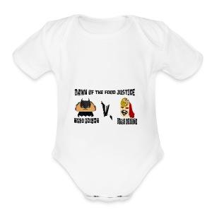 TACO KNIGHT VS SUPER BURRITO - Short Sleeve Baby Bodysuit