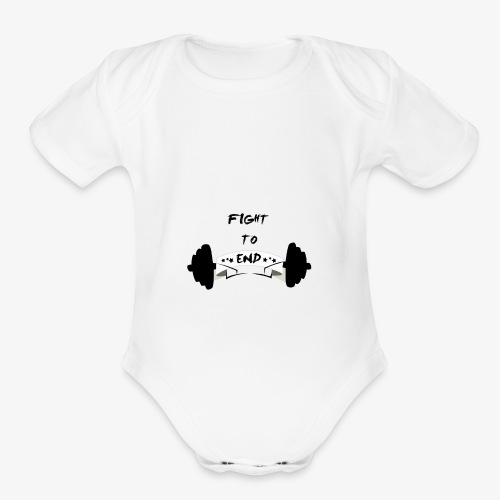 Fight To End - Organic Short Sleeve Baby Bodysuit