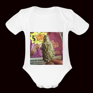 weed the best - Short Sleeve Baby Bodysuit