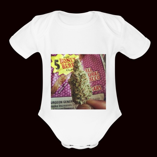 weed the best - Organic Short Sleeve Baby Bodysuit