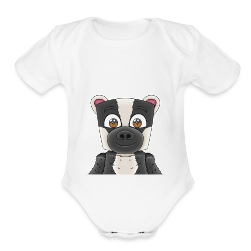 Badgerr Design! - Organic Short Sleeve Baby Bodysuit